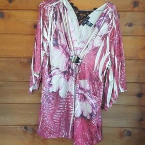 Flare sleeve tunic top size large