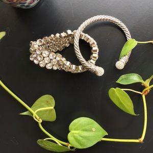Jewelry - Bundle of 2 Silver Sparkly Bracelets