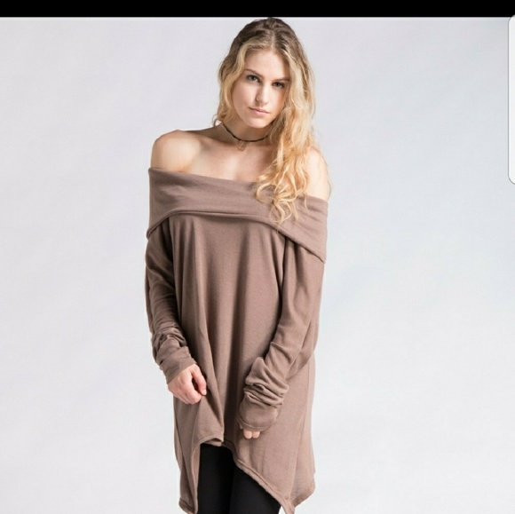 c9cffd7e12221a 💜New Oversized off shoulder tunic