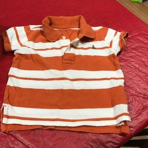 Other - Orange and white striped top