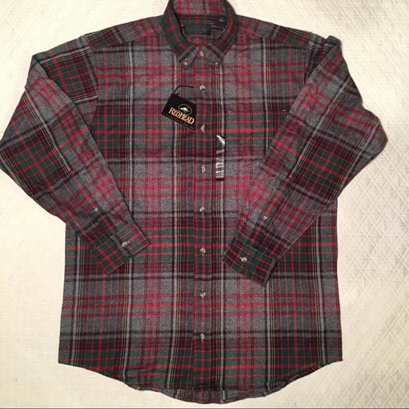 6adb982f43b NWT Redhead Men s Flannel plaid shirt