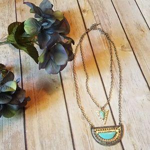 Silver Multi-Layer Fashion Necklace