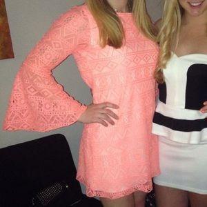 Coral Boho Dress