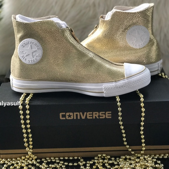 90137a9a609c NWT Converse Ctas Shroud HI LI Gold AUTHENTIC