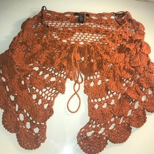Crochet cape shawl