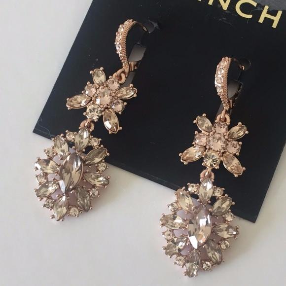 20fcb4284 Givenchy Jewelry | Rose Gold Swarovski Crystal Earrings New | Poshmark