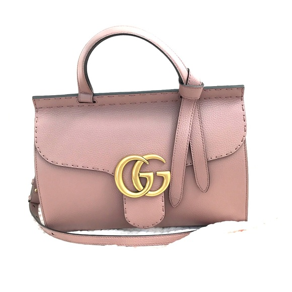 9742e1b9c Gucci Bags | Gg Marmont Leather Top Handle Bag | Poshmark