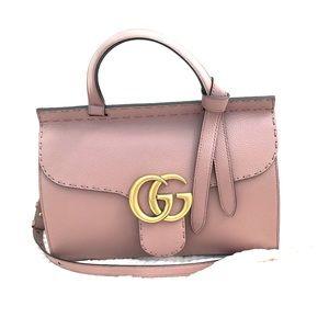 f0b83cc37829e1 Gucci Bags | Gg Marmont Leather Top Handle Bag | Poshmark