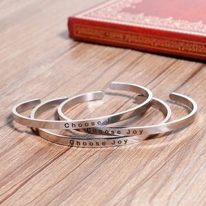 Jewelry - Choose Joy Stainless Steel Cuff Bracelet