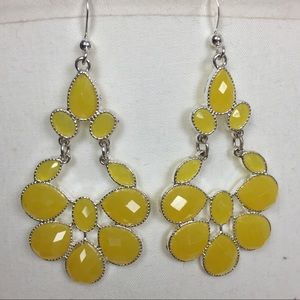 Jewelry - NWOT Yellow Statement Earrings