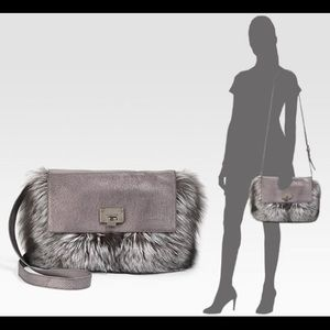 fccef2c6422c Michael Kors Bags - Michael Kors Metallic Rabbit Fur Darrington