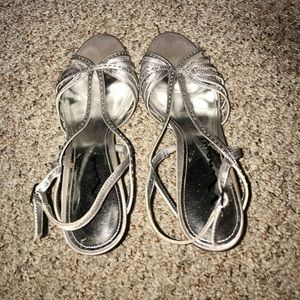 Silver homecoming/prom heels