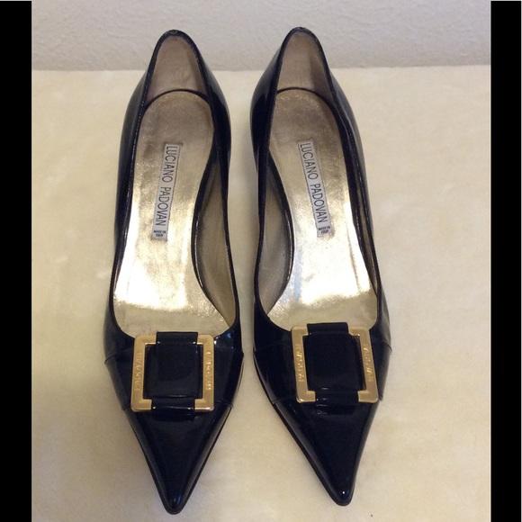 Luciano Poshmark Patent Black Padovan Pardon Shoes OXBU6nO