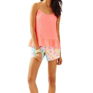 NWT Lilly Pulitzer coral pink sun ray top