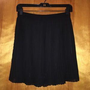 Forever 21 Skirts - Forever 21 Black Chiffon Pleated Skirt