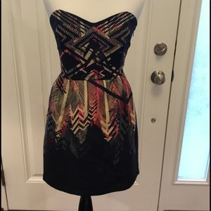 Ecote UO beaded strapless dress size small