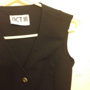 Vintage Black Nautical Vest