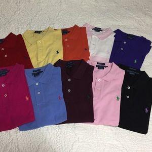 Lots of 10 Ralph Lauren skinny polo shirts