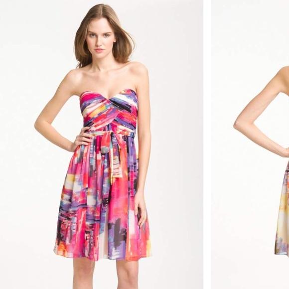 f9e39c4ca21e Donna Morgan Dresses   Strapless Sweetheart Chiffon Dress   Poshmark