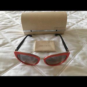 5ed141c40da Jimmy Choo Accessories - NEW Jimmy Choo Dana Sunglasses coral black brown