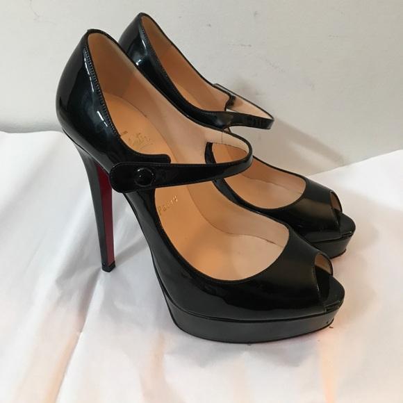 e5c6ef74e88a Christian Louboutin Shoes - CHRISTIAN LOUBOUTIN black patent mary janes 38 8