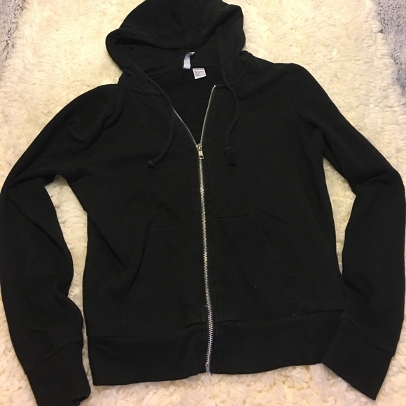 26f45ac9cfe H&M Tops | Hm Divided Black Zip Up Hoodie S | Poshmark