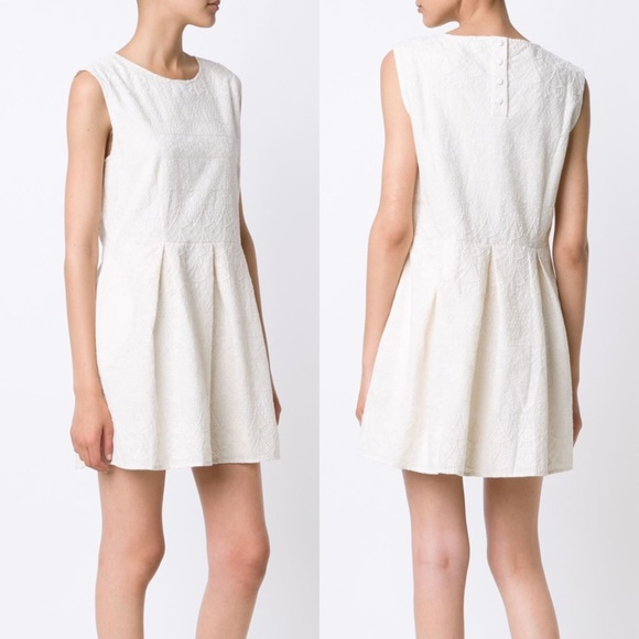 60ae3d77011 ANINE BING Embroidered Cotton Sleeveless Day Dress. NWT