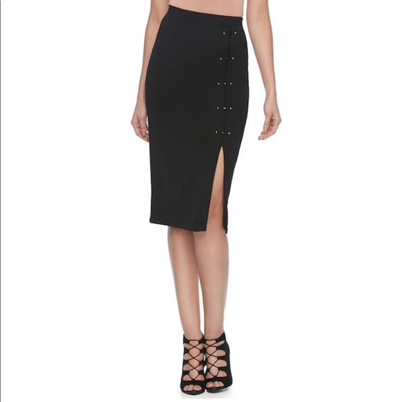 9f58b33a5 Jennifer Lopez Skirts | Black Studded Pencil Skirt Nwt | Poshmark