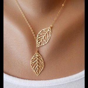 💥2For$24💥Chic Gold Chain Necklace Leaf Pendant