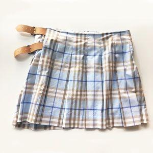 6bb2b4524b Burberry Skirts | Baby Blue Nova Plaid Pleated Mini Skirt | Poshmark