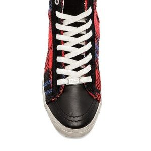 KIM AND ZOZI HIPPIE BLING Shoes - KIM & ZOZI HIPPIE BLING HI TOP SNEAKERS SIZE 7