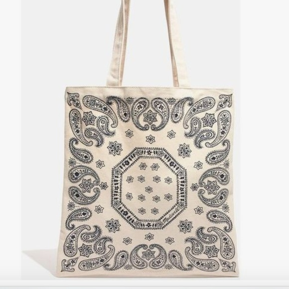 f74f5e68d Madewell Bags | New Canvas Tote Bag Bandana Edition Boho | Poshmark