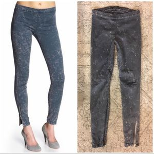 Pants - Joe's Jeans Gray Acid Wash Zipper Ankle Leggings M