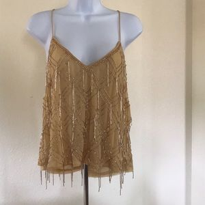 NEW Free People Mango Gatsby Fringe Tank Top