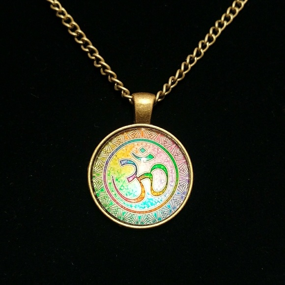 Jewelry Om Symbol Pendant And Necklace Poshmark