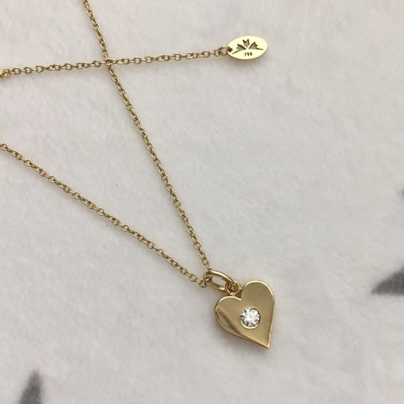 Hearts on Fire Jewelry - 18K Hearts on Fire Heart Necklace