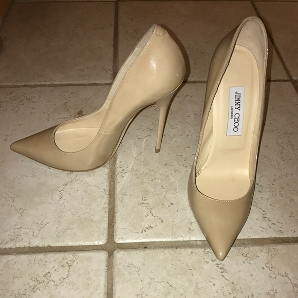 318dfab3374 Jimmy Choo Shoes - Jimmy Choo Anouk Patent Leather Heels