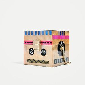 Zara Robot Box Bag Cube 4415