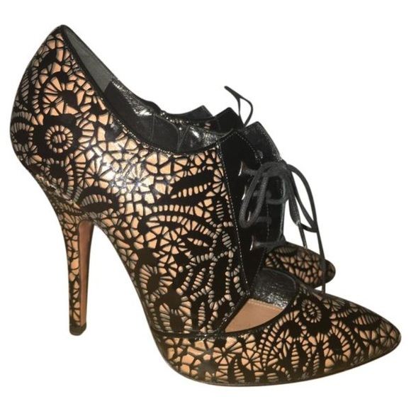dea3e542e321f Alaia Shoes | Laser Cut Patent Leather Perforated Heels 40 | Poshmark