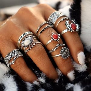 Jewelry - 12 Stack boho ring set