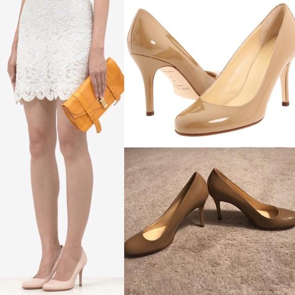 909cb2d0db kate spade Shoes - Kate spade Karolina pump round patent camel nude