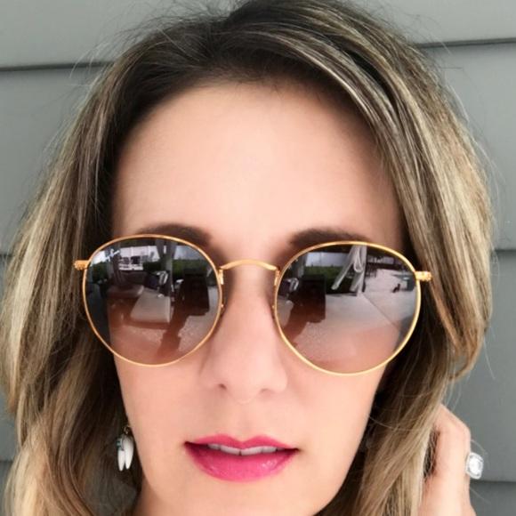 1d708cb1e9 Ray-Ban round bronze copper sunglasses. M 599ec31dc28456b54b001dbc