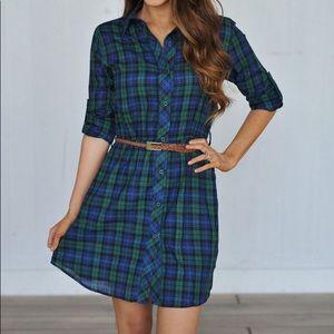 Dresses & Skirts - FINAL PRICE DROP! Plaid Shirt Dress