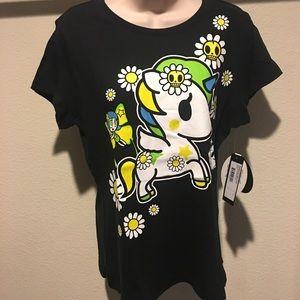 Tokidoki Daisy Dukes Unicorn Tshirt L Graphic Tee