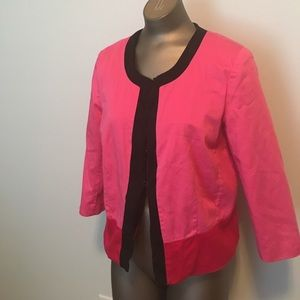 Kim Rogers PL cotton stretch career jacket pink bl