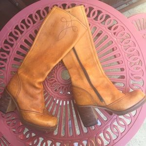Vintage riding campus boots