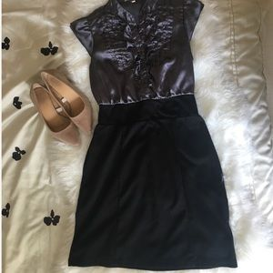 Dresses & Skirts - Black and silver pencil dress