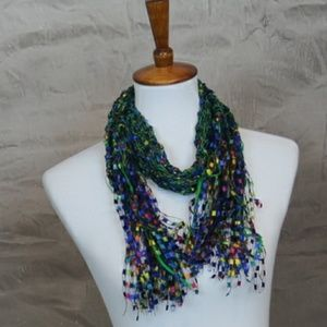 Accessories - Multicolor crochet  fashion scarf