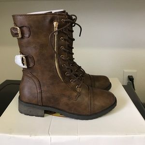 Women's  Military Lace Up Combat Boots