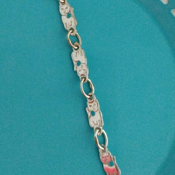 c1afa953c Jewelry | Sterling Silver Kitty Cat Link Bracelet | Poshmark